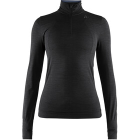 Craft Fuseknit Comfort Zip Shirt Women black